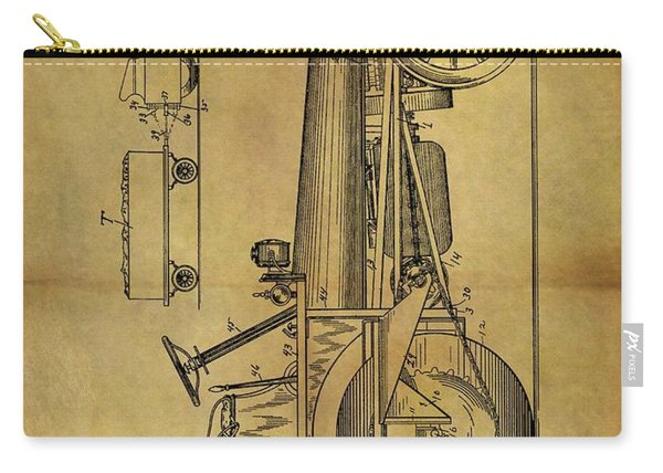 1907 Tractor Patent Carry-all Pouch