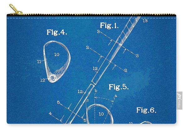 1910 Golf Club Patent Artwork Carry-all Pouch