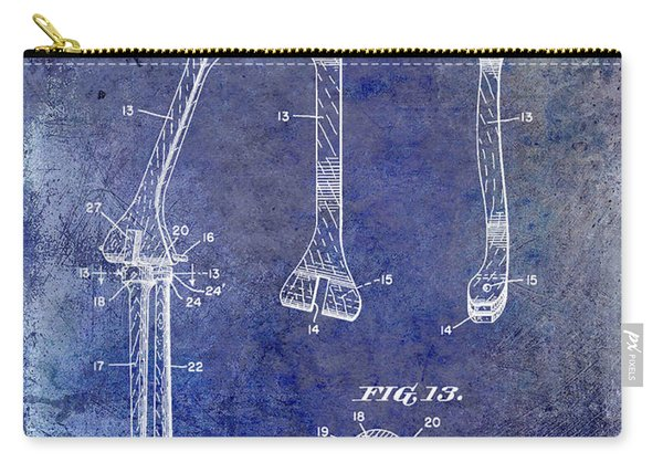 1911 Mechanical Skeleton Patent Blue Carry-all Pouch