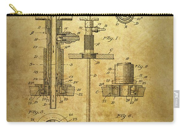 1912 Beer Tap Patent Carry-all Pouch