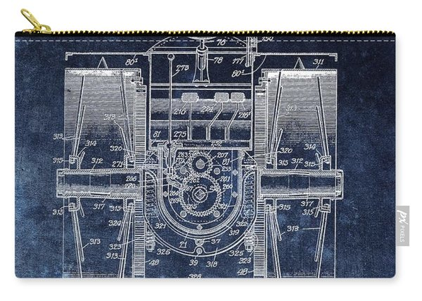 1916 Tractor Illustration Carry-all Pouch