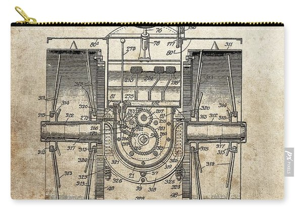 1916 Tractor Patent Carry-all Pouch