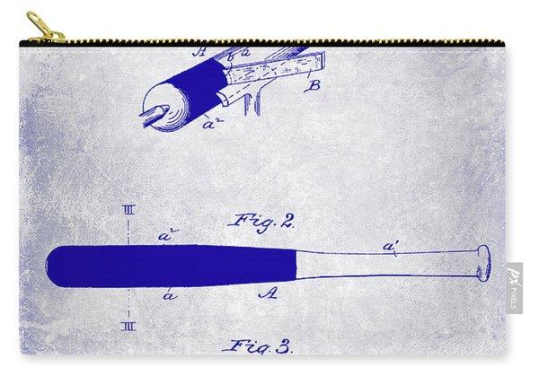 1920 Baseball Bat Patent Blueprint Carry-all Pouch