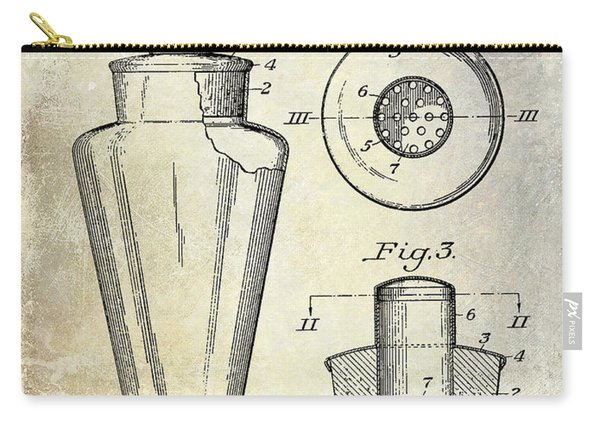 1925 Cocktail Shaker Patent  Carry-all Pouch