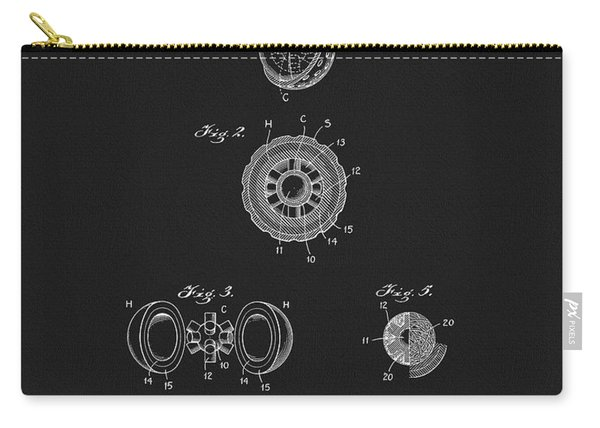 1925 Golf Ball Patent Carry-all Pouch