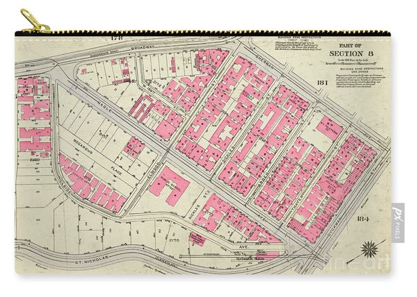 1930 Inwood Map  Carry-all Pouch