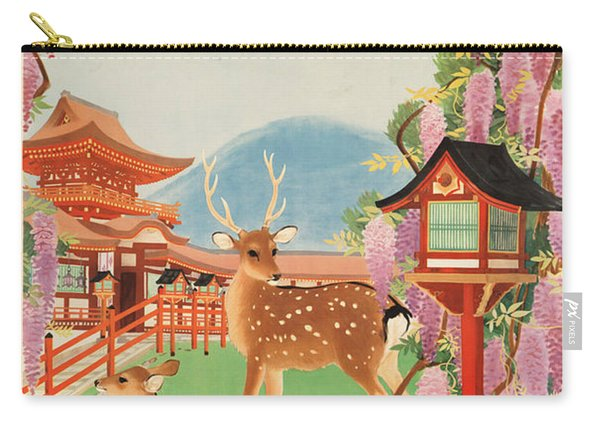 1930s Japan Travel Poster Japanese Government Railways Board Of Tourist Industry Carry-all Pouch