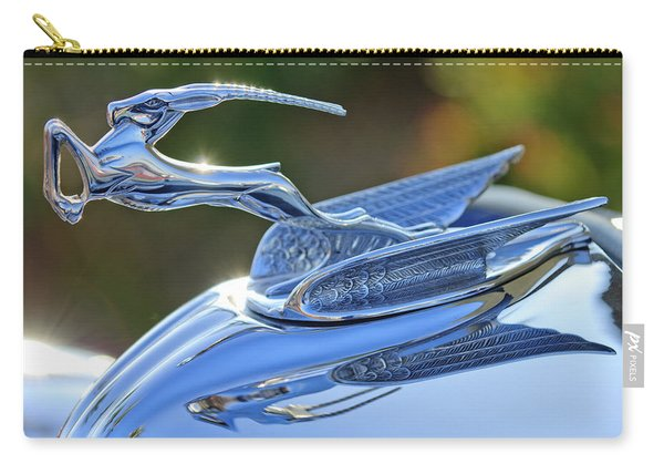 1933 Chrysler Imperial Hood Ornament 2 Carry-all Pouch