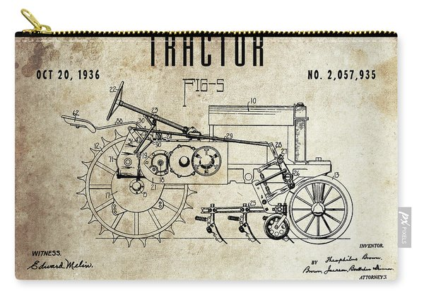 1936 Tractor Patent Carry-all Pouch