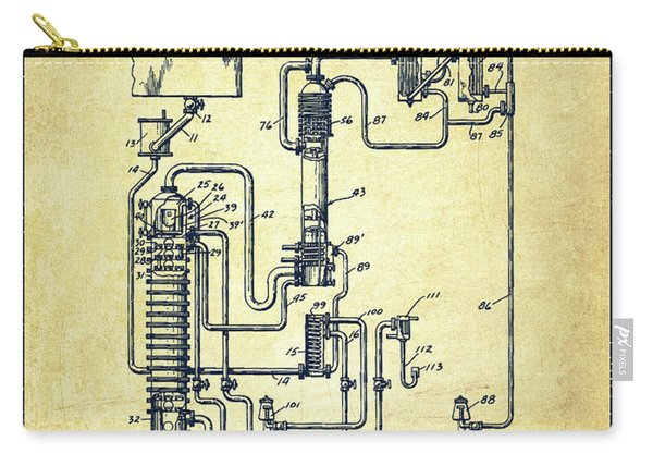 1937 Alcohol Distillation Apparatus Patent Fb79_vn Carry-all Pouch