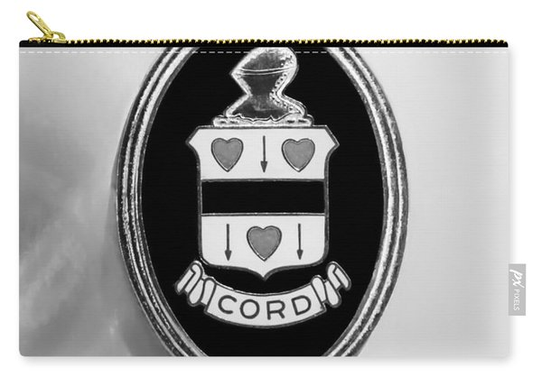 1937 Cord 812 Sc Phaeton Emblem -1203bw2 Carry-all Pouch
