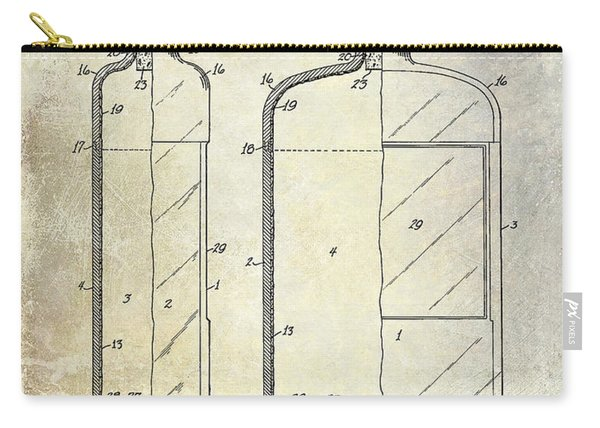 1937 Liquor Bottle Patent  Carry-all Pouch
