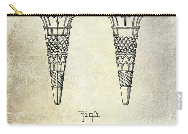 1940 Ice Cream Cone Patent Carry-all Pouch
