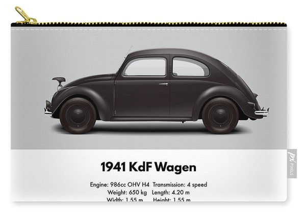 1941 Kdf Wagen - Black Carry-all Pouch