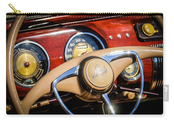 1941 Lincoln Continental Cabriolet V12 Steering Wheel Carry-all Pouch