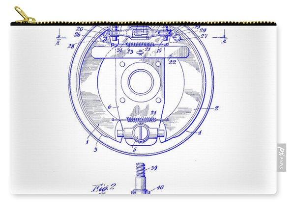 1941 Porsche Brake Mechanism Patent Blueprint Carry-all Pouch