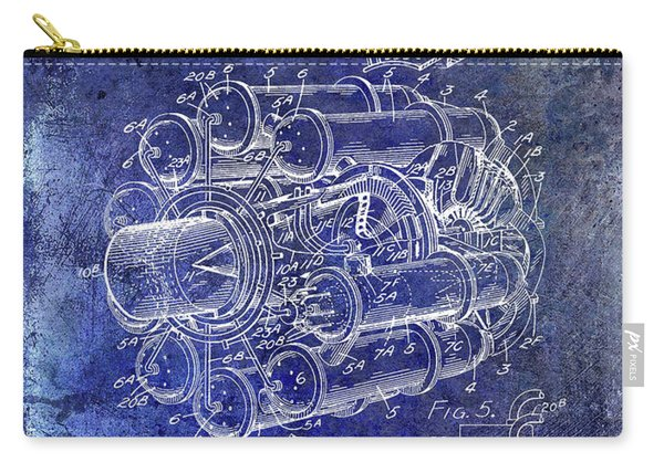 1946 Jet Engine Patent Blue Carry-all Pouch