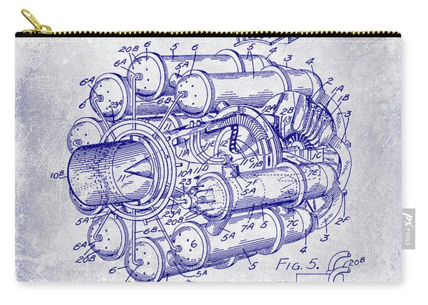 1946 Jet Engine Patent Blueprint Carry-all Pouch