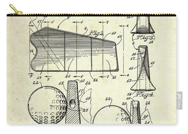 1947 Universal Golf Head Patent Art Carry-all Pouch