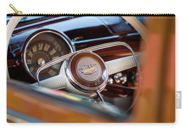 1950 Ford Woody Steering Wheel -0579c Carry-all Pouch