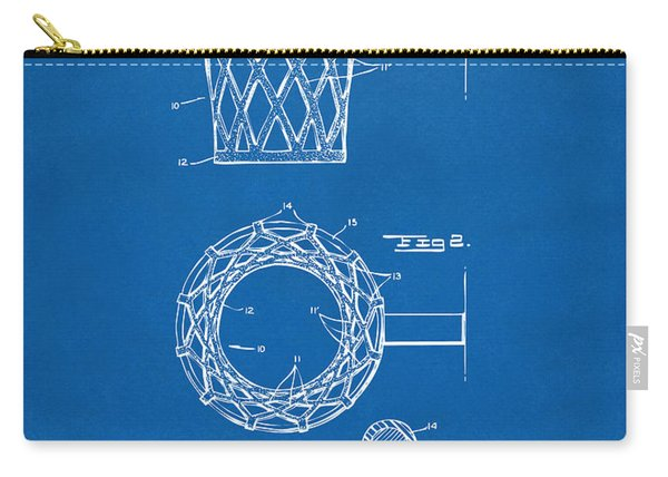 1951 Basketball Net Patent Artwork - Blueprint Carry-all Pouch