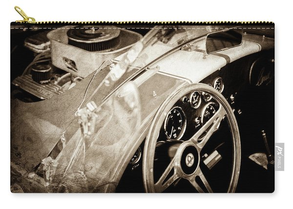 1955 Ac Cobra Steering Wheel - Engine -1043s Carry-all Pouch