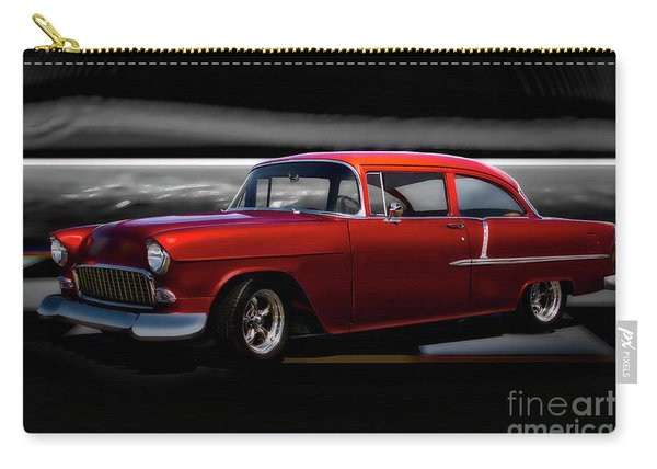 1955 Chevrolet 'candy Apple' Coupe II Carry-all Pouch