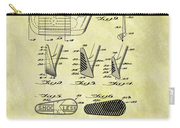 1958 Iron Golf Club Patent Carry-all Pouch
