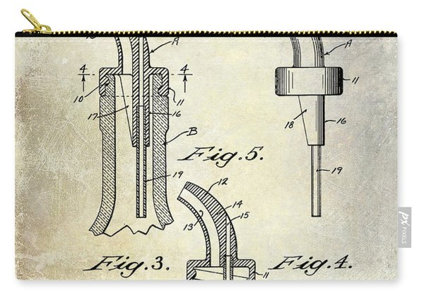1958 Liquor Bottle Pour Patent Carry-all Pouch