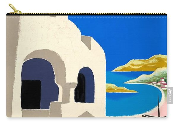 1959 Air France Greece Travel Poster Carry-all Pouch