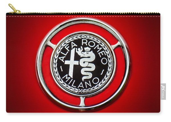 1959 Alfa Romeo Giulietta Sprint Emblem -0128c1 Carry-all Pouch