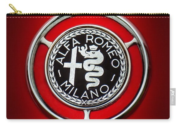 1959 Alfa Romeo Giulietta Sprint Emblem -0128c5 Carry-all Pouch