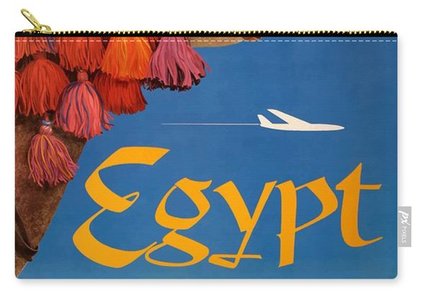 1960 Egypt Twa David Klein Travel Poster  Carry-all Pouch