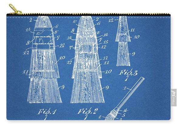 1961 Curling Broom Patent Carry-all Pouch