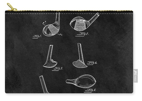 1961 Golf Club Head Patent Carry-all Pouch