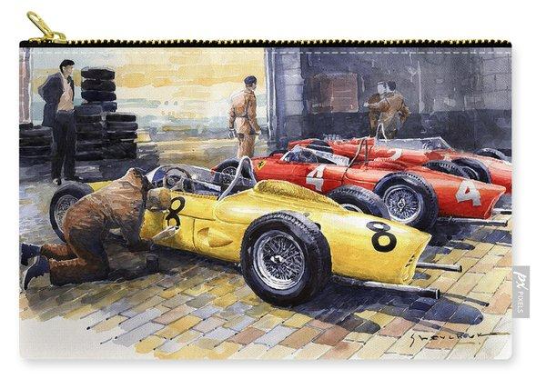 1961 Spa-francorchamps Ferrari Garage Ferrari 156 Sharknose  Carry-all Pouch