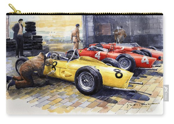 1961 Spa-francorchamps Ferrari Garage Ferrari 156 Sharknose  Carry-all Pouch