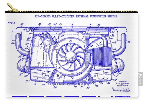 1962 Porsche Engine Patent Blueprint Carry-all Pouch