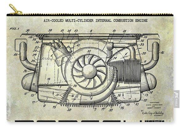 1962 Porsche Engine Patent Carry-all Pouch