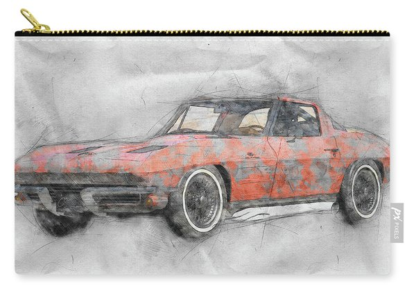 1963 Chevrolet Corvette Sting Ray 1 - 1963 - Automotive Art - Car Posters Carry-all Pouch