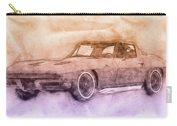 1963 Chevrolet Corvette Sting Ray 2 - 1963 - Automotive Art - Car Posters Carry-all Pouch