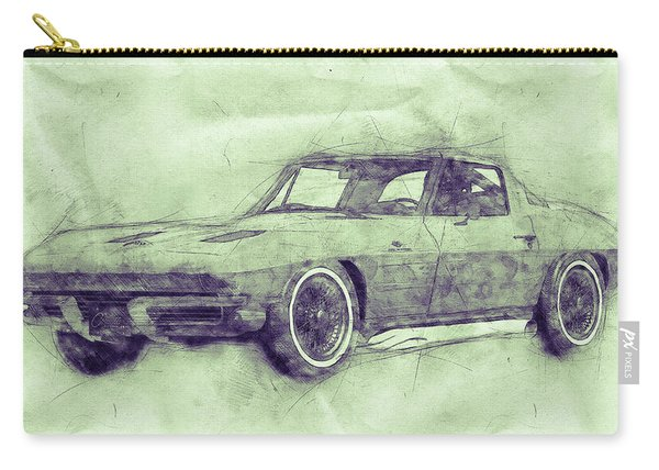 1963 Chevrolet Corvette Sting Ray 3 - 1963 - Automotive Art - Car Posters Carry-all Pouch
