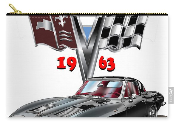 1963 Corvette With Split Rear Window Carry-all Pouch