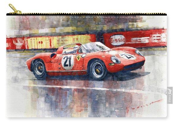 1964 Lemans 24 Ferrari 275p Ludovico Scarfiotti  Carry-all Pouch