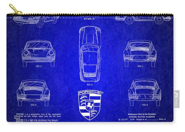1964 Porsche Car Patent 4 Carry-all Pouch