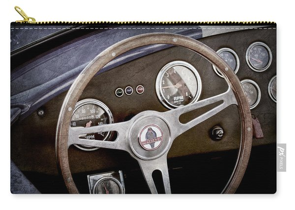1965 Ac Cobra Steering Wheel Emblem -1216ac Carry-all Pouch
