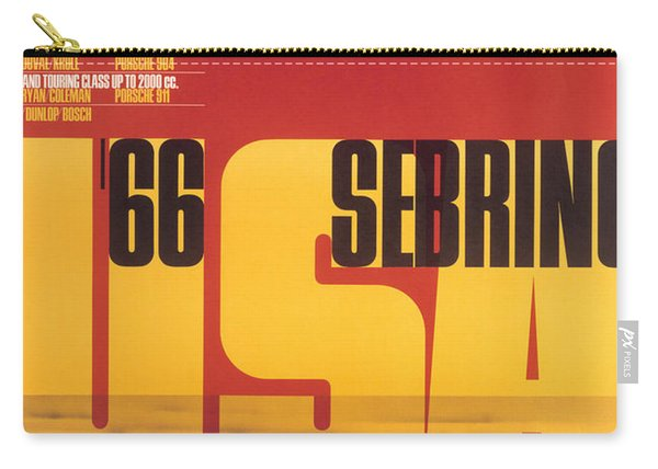 1966 Porsche 12 Hours Of Sebring Carry-all Pouch