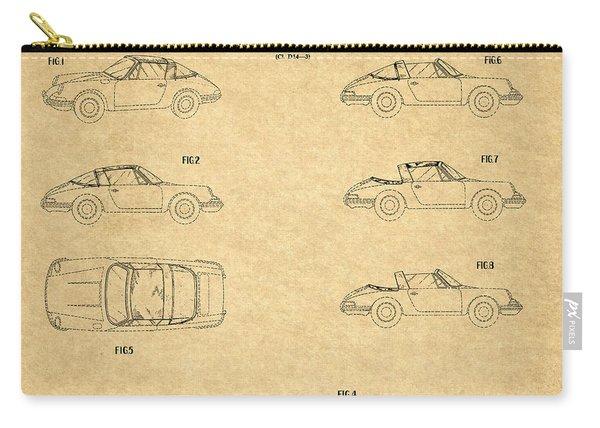 1966 Porsche Car Patent 1 Carry-all Pouch