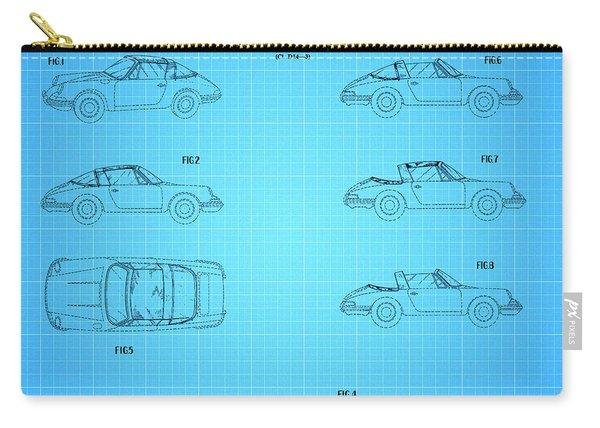 1966 Porsche Car Patent 2 Carry-all Pouch