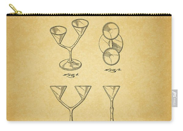 1967 Double Martini Glass Carry-all Pouch